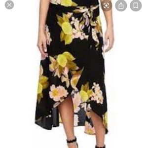 Bold Elements Floral Wrap Skirt